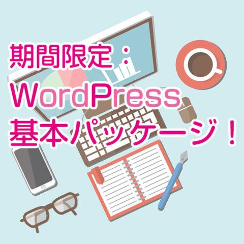期間限定:WordPress 基本パッケージ!